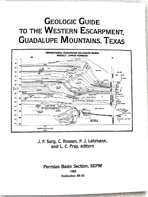 Geological Guide to the Western Escapment, Guadalupe Mountains, Texas