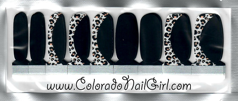 Leopard and Black Mixed Mani