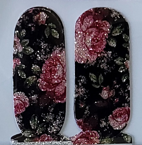 Glittery Roses - Accents
