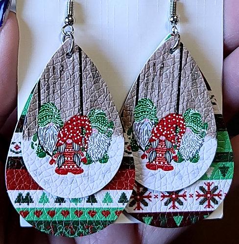 Christmas Gnomes  Teardrop Earrings