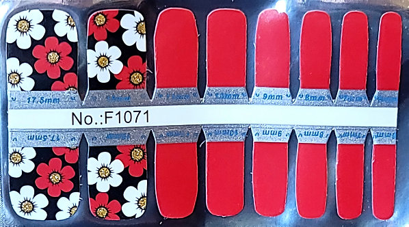 Red & White Flowers - Toes