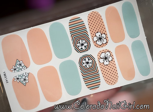 Peachy Mint Psychedelic Floral