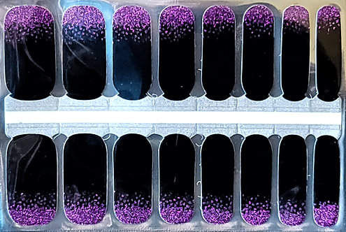 Purple Glitter Gradient to Black