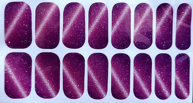 Deep Violet Glitter Cat's Eye