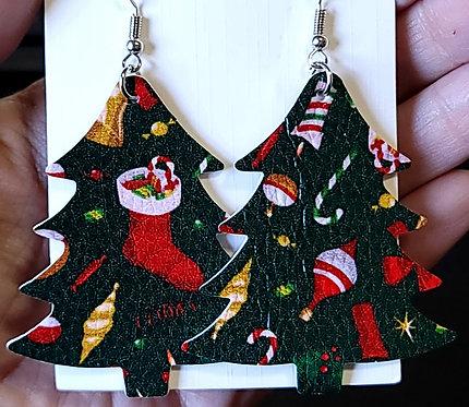 Ornaments Christmas Tree Earrings