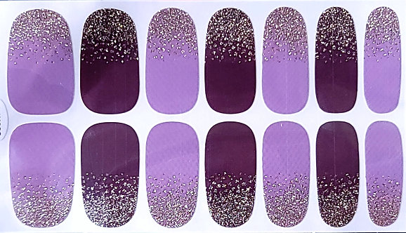 Gold Glitter Gradient Over Purple/Burgundy