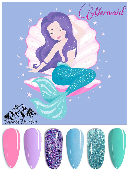 Mermaid Dip Powders