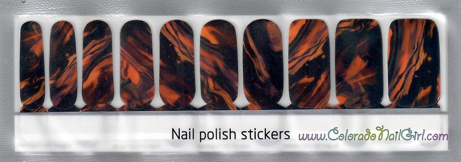 Orange and Black Marble