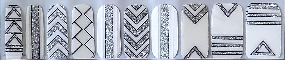 White & Silver Glitter Overlay