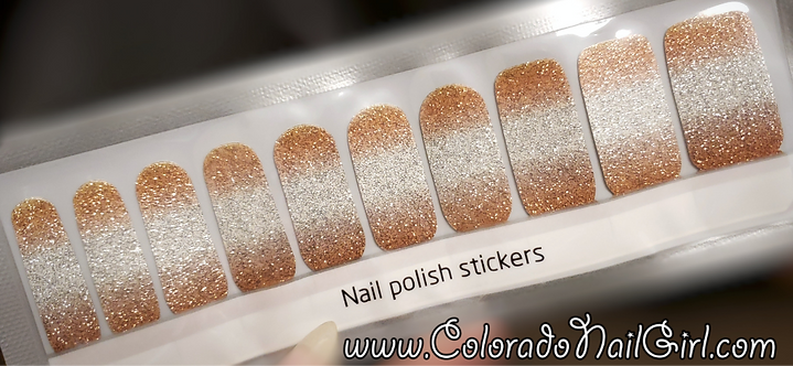 Gold to Silver Glitter Ombre