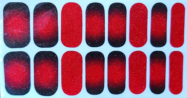 Conical Green/Red Ombre Glitter