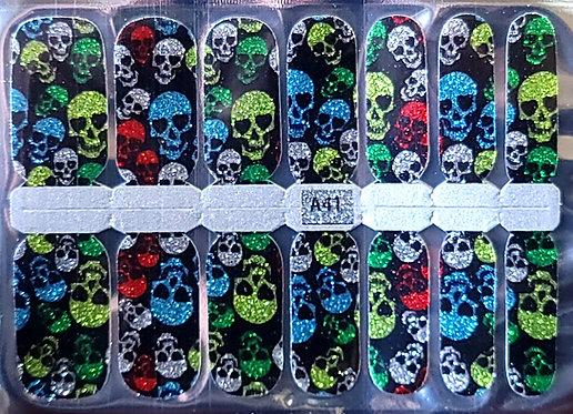 Multi-Colored Glittery Skulls