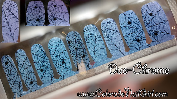 Duo-Chrome Teal to Purple Spiders and Webs