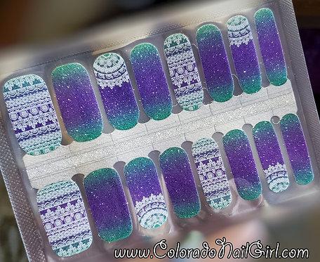 Fancy Lace Ombre Glitter
