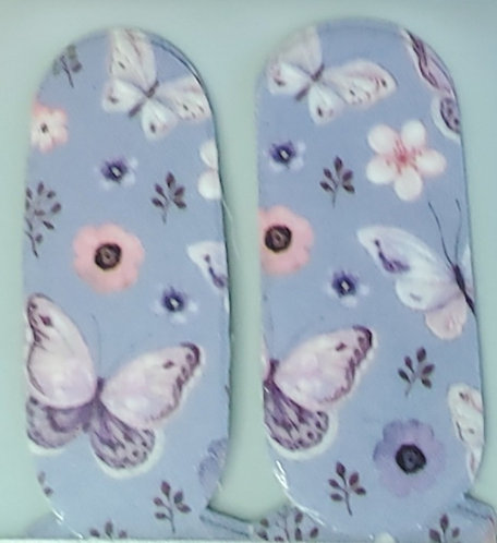 Lavender Butterflies on Sky Blue - Accents
