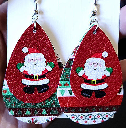 Santa Teardrop Earrings