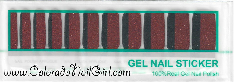 Red and Black Vertical Glitter