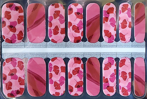 Lovely Pink Floral Marble