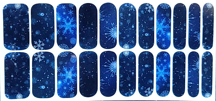 Blue Winter Snowflakes
