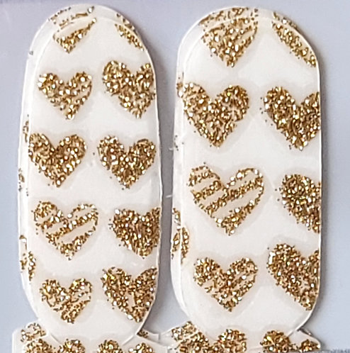 Gold Hearts Overlay - Accents