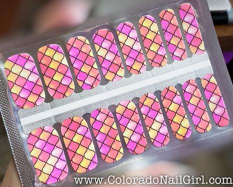 Neon Pastel Jelly Ornamental Print