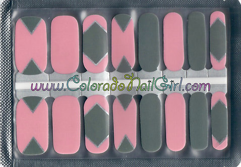 Geo Pink and Grey