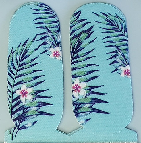 Tropical Floral on Blue - Accents