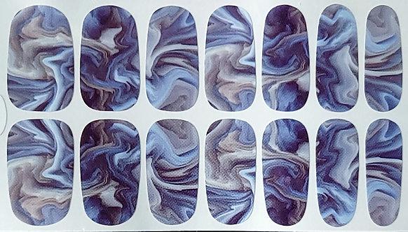 Blue & Grey Swirl