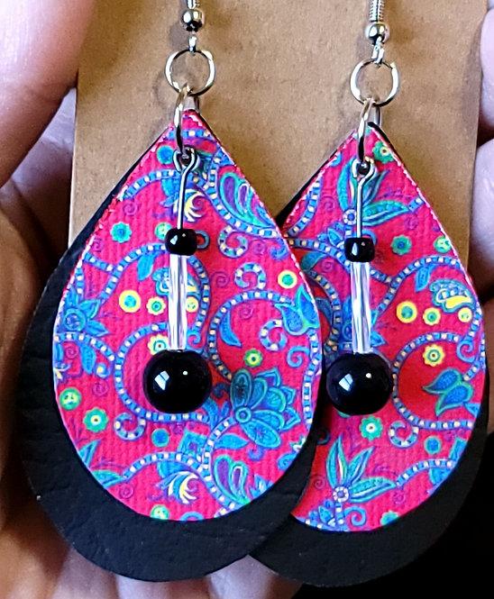 Summer Celebration Teardrop Earrings on Black