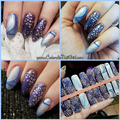 Aqua Floral With Marble