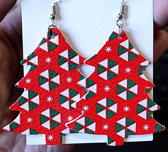 Candy Christmas Tree Earrings