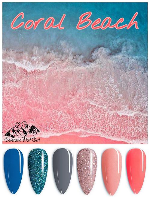 Coral Beach Dip Powders