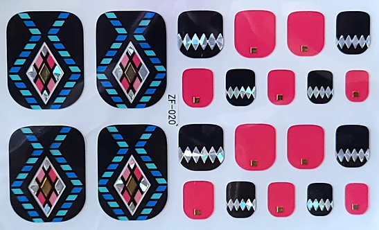 Blue & Black Aztec - Toes