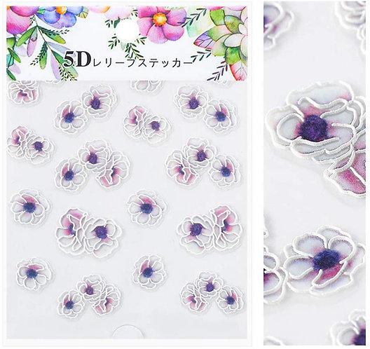 Pinky/Purple Ombre Flowers