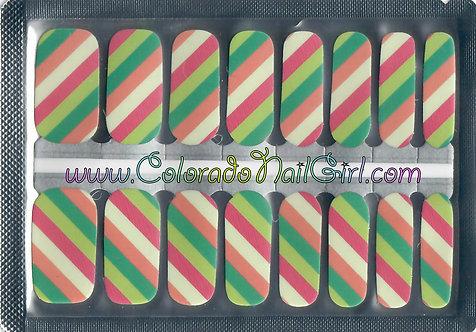 Bright Pastel Diagonal Stripes