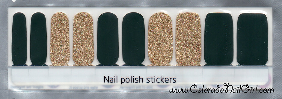 Darkest Green and Gold Glitter