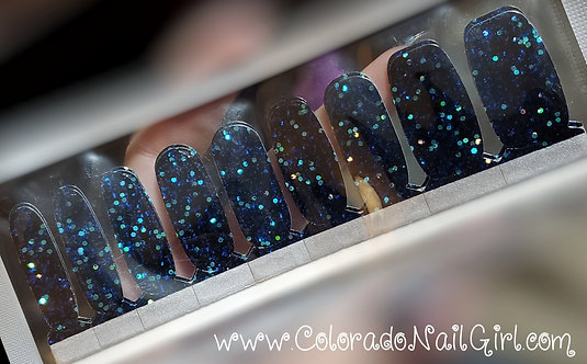 Dark Blue Glitter On Black