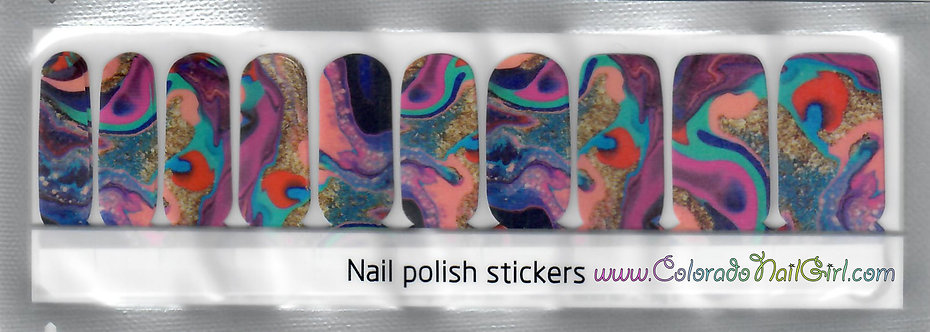 Painted Colorful Marble