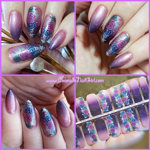 Purple & Teal Rose Garden