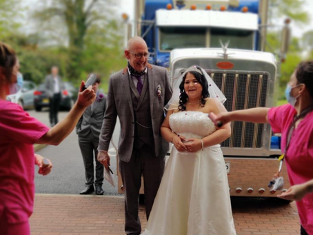 WHEN YOU CAN'T GO TO THE WEDDING…….  THEN THE WEDDING HAS TO COME TO YOU!