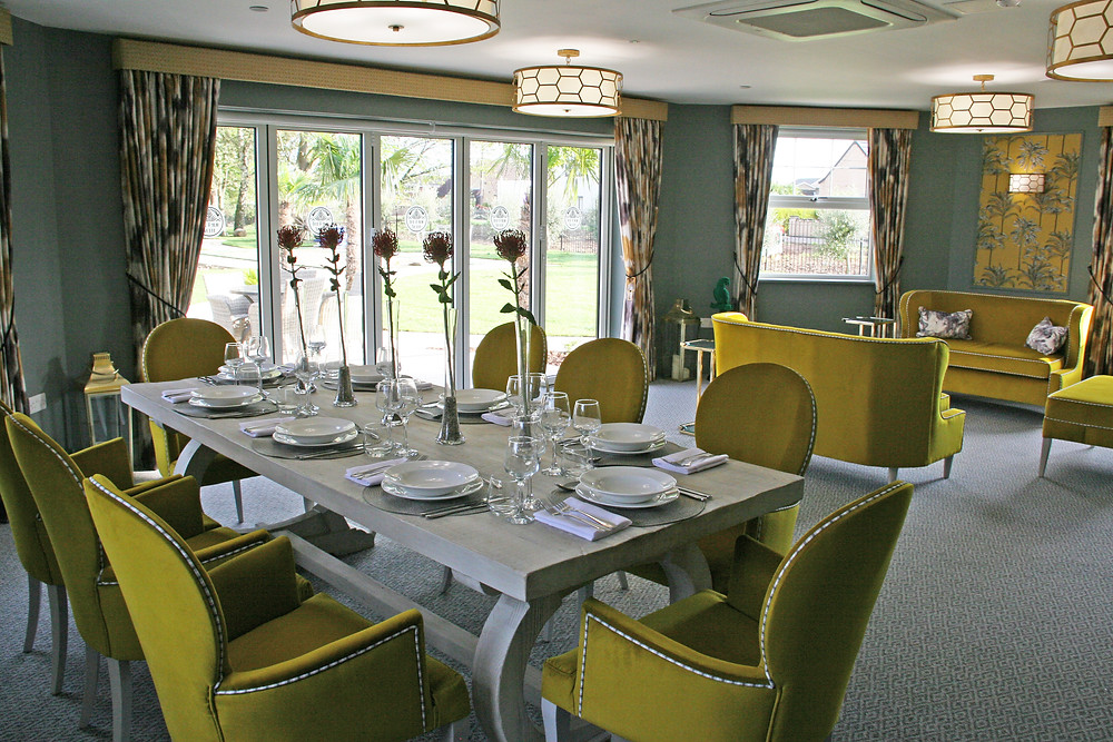 Beautiful setting for dining at Fenchurch House Care Home  Spalding Common