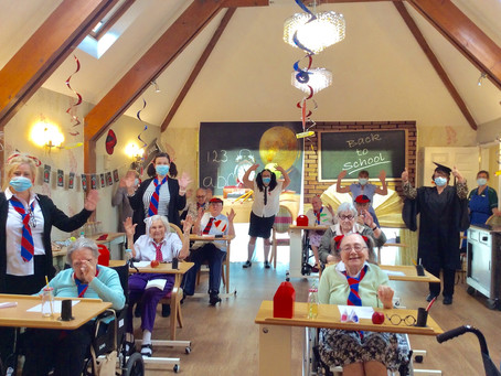 RESIDENTS FROM LOCAL CARE HOME GO BACK TO SCHOOL