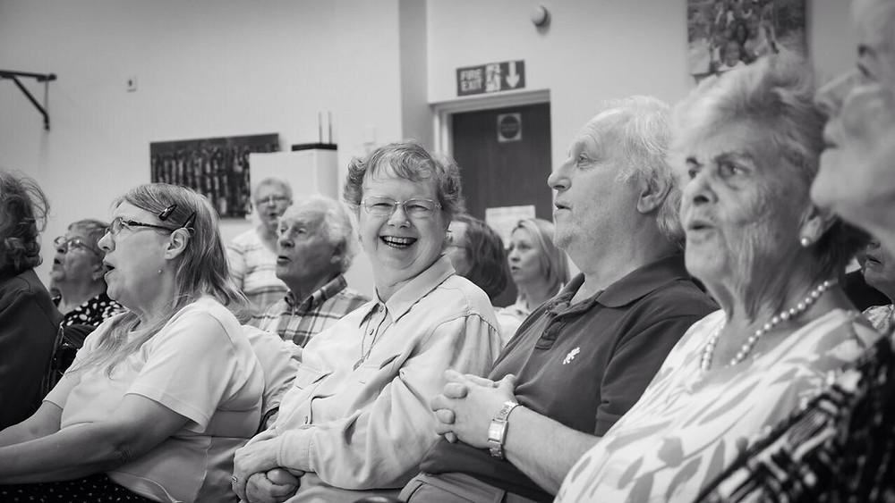 Bright Copper Kettles blog: Musical Memories Choir members singing and smiling