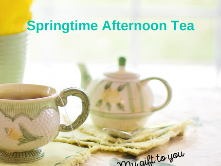 Springtime, Afternoon Tea Time