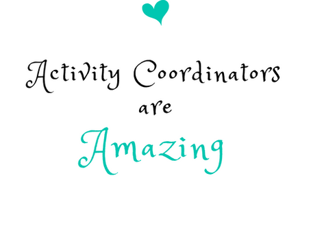 Your activity coordinator is doing what?