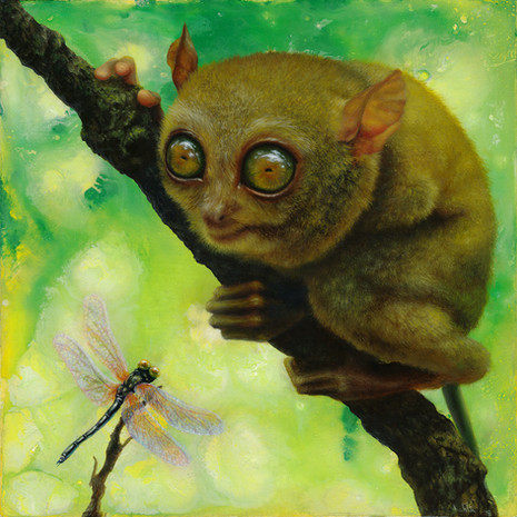 Tarsier oil painting