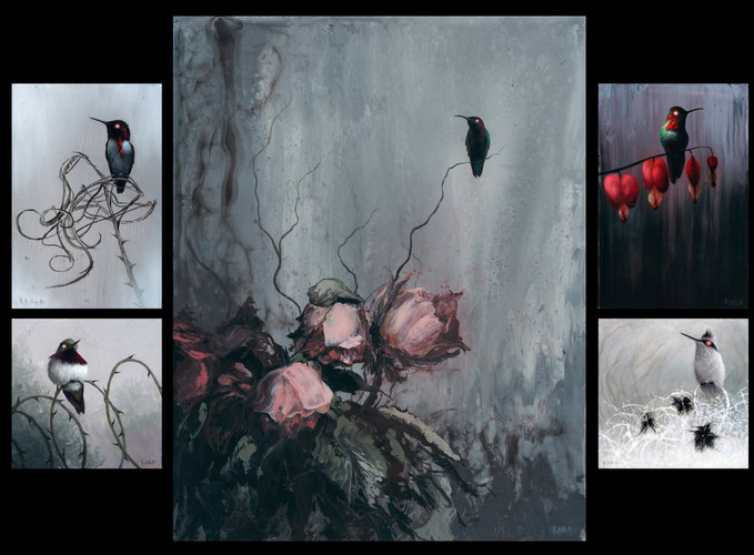 Hummingbird Painting Series