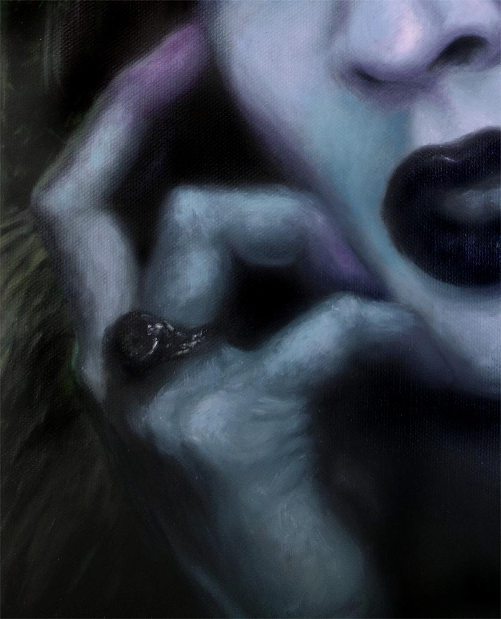 marilyn manson painting hand
