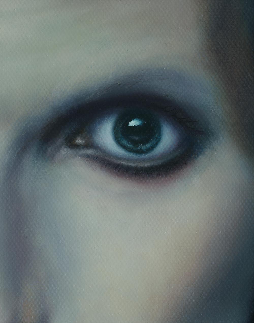 detail, eye, david bowie painting