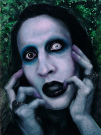 marilyn manson oil painting